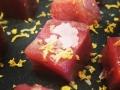 allettareato con fiocchi di sale e caviale di limone