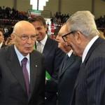 Napolitano e il figlio del martire Di Vagno recentemente scomparso