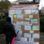 Alcuni dei disegni realizzati dai ragazzi nella giornata di oggi in occasione dell'iniziativa promossa da Libertà è Partecipazione