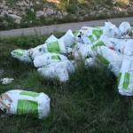 I rifiuti speciali della nota marca di fitofarmaci abbandonati in contrada Carbonelli