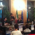 Un momento della conferenza di presentazione della Stagione di Prosa 2013/14