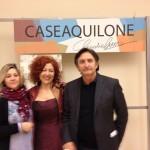 da destra Massimo Guastella curatore della mostra, Claudia Liuzzi al centro a sinistra Cosetta Giordano organizzatrice della mostra