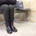 Il locale della sala d'attesa della stazione di Conversano