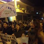 Un momento della manifestazione 27 marzo
