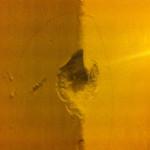 L'angolo del muro danneggiato in vico VIII Martucci da un proiettile
