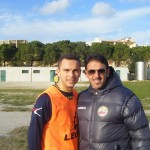 Michele Carbonara con il DS Paolo Lovecchio