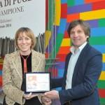 Pasquale D'Attoma ritira il premio Giornalista di Puglia