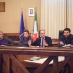 Da sinistra: l'assessore Mancini, il presidente D'Ambruoso, il sindaco Lovascio e il suo vice Gungolo