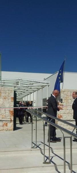Il presidente della Provincia Schittulli e il sindaco di Putignano De Miccolis Angelini