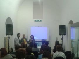 Gli assessori Mazzone, Perricci e Lippolis durante la conferenza stampa