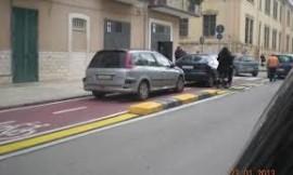 La pista ciclabile di via Iaia