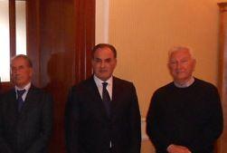 Da sinistra: il presidente Giuseppe D'Orazio, il Direttore Donato Venerito e il presidente del collegio sindacale dott. Antonio Laruccia