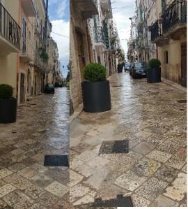 Nei due riquadri via Acquaviva d'Aragona