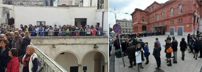 In fila per De Chirico, in fila per il Petruzzelli. Sete di cultura e voglia di stare insieme