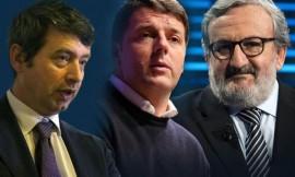 Andrea Orlando, Matteo Renzi e Michele Emiliano