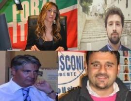 Elvira Savino, Giuseppe D'Ambruoso, Vito Cerri e Carlo Gungolo