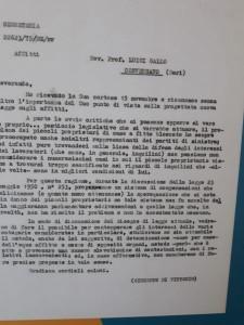 La lettera di Giuseppe Di Vittorio, deputato e storico leader della CGIL, a mons. Luigi Gallo studioso trapiantato a Conversano che gli ha dedicato una strada importante nel pieno del polo liceale