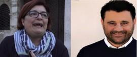 La consigliera di maggioranza Chiara Candela (LeU) e il consigliere di opposizione Carlo Gungolo
