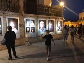 La mostra inaugurata sulla balconata di piazza XX Settembre
