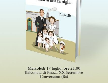 Sulla balconata presentazione del libro di Giovanni D'Innella che discuterà con il nuovo rettore dell'Università di Bari e il sindaco