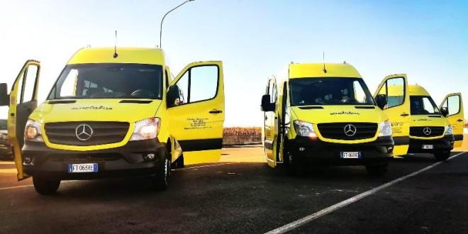 Trasporto scolastico: in funzione i nuovi autobus, soddisfatto il sindaco Loiacono