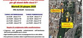 """In Villa Garibaldi il saluto del I circolo """"G. Falcone"""" ai bambini delle classi quinte"""