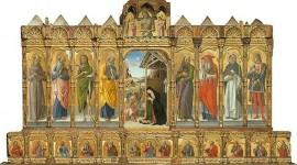 Polittico di Conversano di Bartolomeo  Vivarini, e bottega di Murano. Datazione: 1475. Provenienza: Stato (1883). L'opera è conservata presso La Galleria dell'Accademia di Venezia
