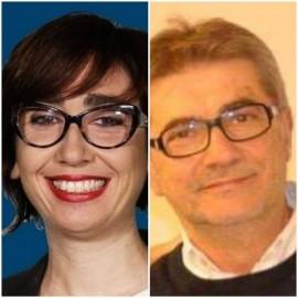 Tania Fanigliuolo, coordinatore di Valore Futuro e Piero Montefusco, segretario del PD