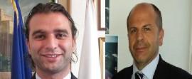 Da sinistra Angelo Annese (sindaco di Monopoli) e Domenico Vitto (sindaco di Polignano a Mare)