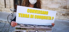 """""""Conversano terra di conquista?"""" Le associazioni manifestano in Comune dopo l'ennesimo svellimento di ulivi a Montecarretto"""