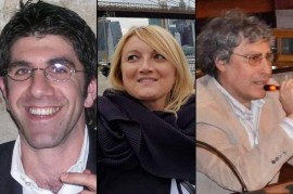 Da sinistra: Silvio Zupa (dottore in Scienze Infermieristiche, operatore sanitario), Maria Grazia Rongo (giornalista), Franco Macchia (Pneumologo, Medico di Medicina Generale e fiduciario dell'Ordine dei Medici di Conversano)