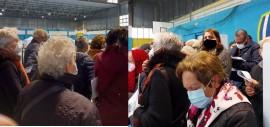 Il centro vaccinale del pomeriggio del 12 aprile 2021