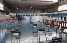 Il centro vaccinale allestito nel Campo Castellaneta (ex Pineta) a Conversano